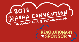 ASHA 2016 Convention Revolutionary Sponsor